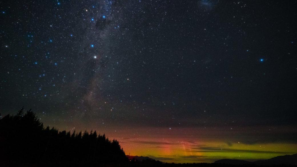 ニュージーランドのオーロラ