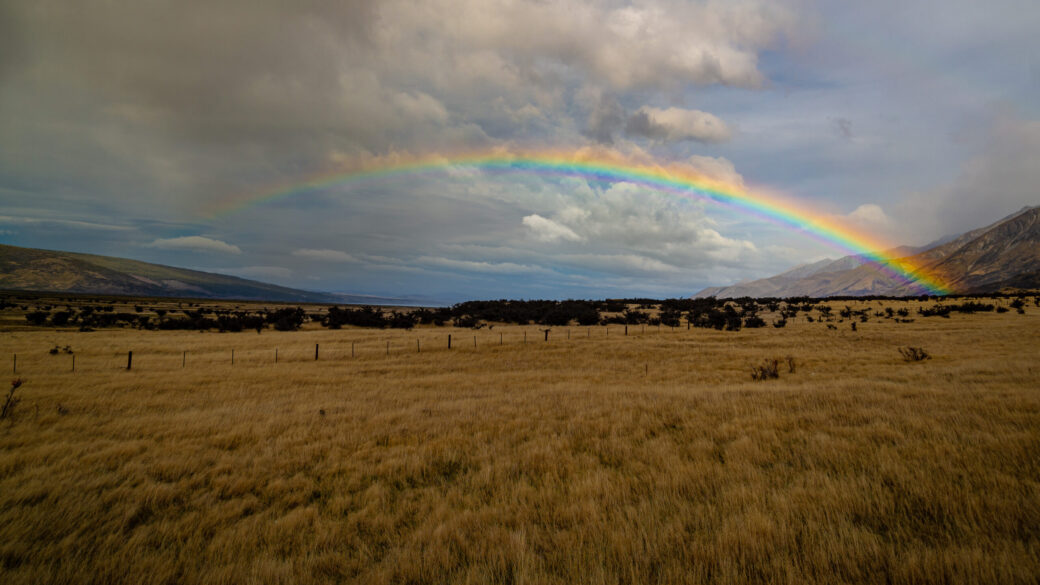 ニュージーランドの虹